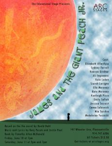 James and the Giant Peach, Arc Stages